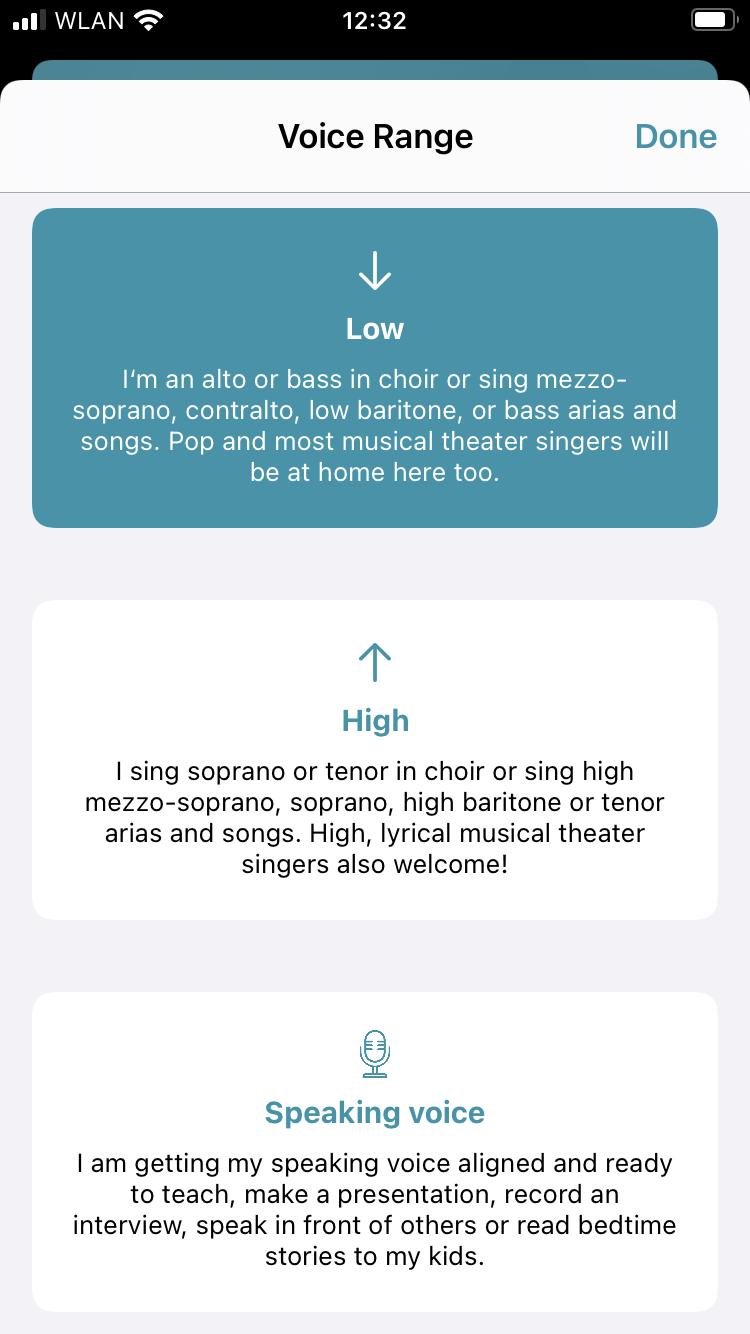 Voice range screenshot